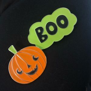 Accessories - 🎃 Halloween Pumpkin BOO Metal Enamel Pin Set 🎃